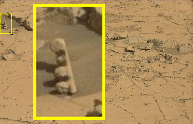 What is this highly unusual quot carved object on mars