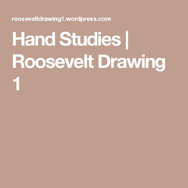 Hand Studies | Roosevelt Drawing 1
