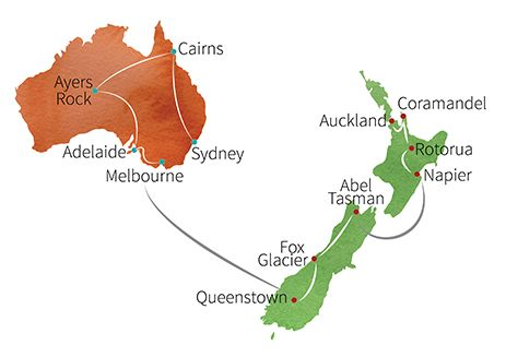 Travel New Zealand and Australia in 3 weeks - itinerary and pricing options for tour