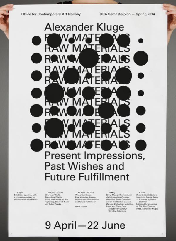 garadinervi: Hans Gremmen, Alexander Kluge, Poster for OCA, Office for Contemporary Art Norway, 2014