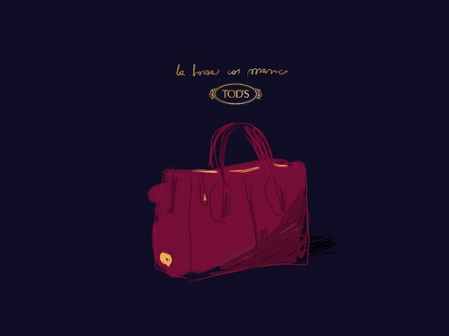 Borsa Tod's.   #illustrated by Open Toe - opentoe.posterous.com