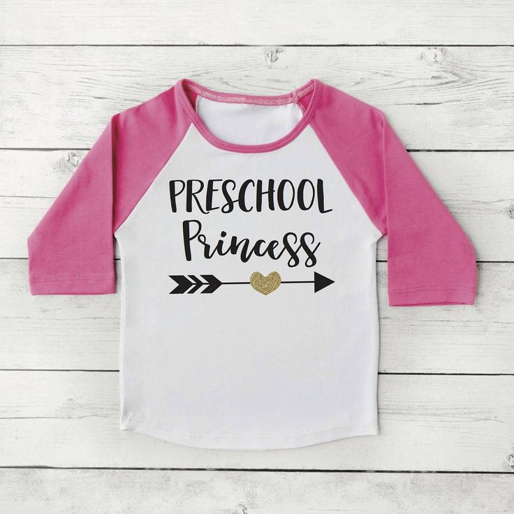 First Day of Preschool Shirt, Girl Back to School Clothes 1st Day of School Photo Prop, Preschool Princess 305 #1st_day_of_preschool #1st_day_of_school #1st_day_outfit