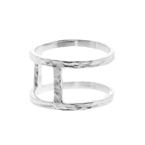 "Tic Tac Toe ""Bar"" ring in sterling silver $70 www.toriandtaz.com"