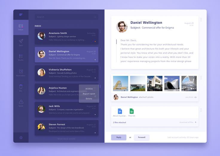 10 beautiful Email client User Interfaces