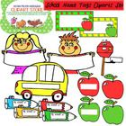 Welcome School - Color Name Tags Clipart Set for Personal and Commercial Use