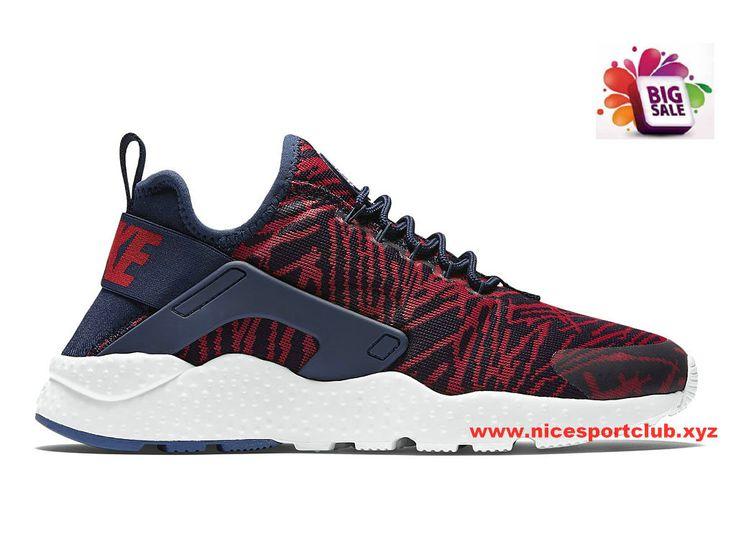 Nike Air Huarache Run Ultra Jacquard Femme Pas Cher Noir/Rouge 818061_400 Nike  Air Huarache