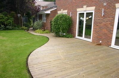 garden ideas decking designs