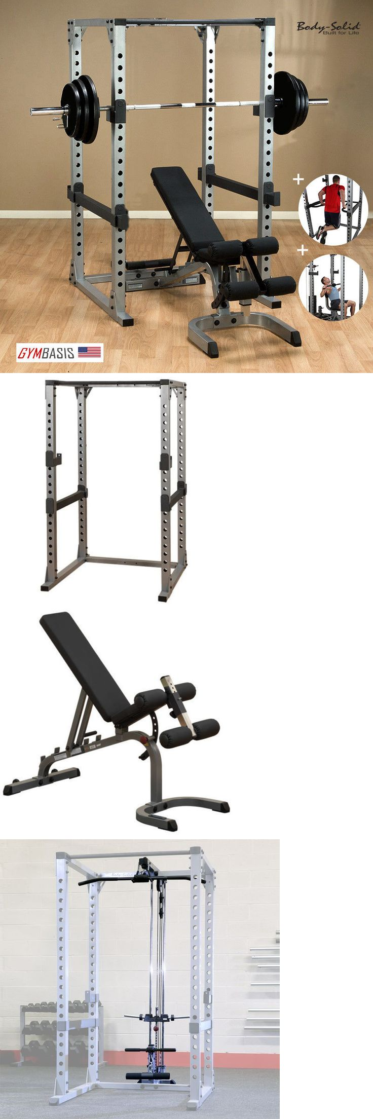 Power Racks and Smith Machines 179815: Body Solid Gpr378 Power Rack W/ Bench, 300Lb Weight Set, Dip Attach, Lat Attach BUY IT NOW ONLY: $1380.0