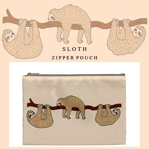 Sloth bag,sloth,makeup bag,bag,ziper pouch,pencil case,cute,kawaii,cute makeup bag,illustration,clutch,travel,make up bag,zipper,sloths,s5,6 by FiaMiaCases on Etsy https://www.etsy.com/listing/215518801/sloth-bagslothmakeup-bagbagziper