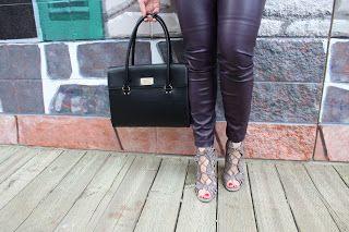 OOTD - Purple Leather Pants
