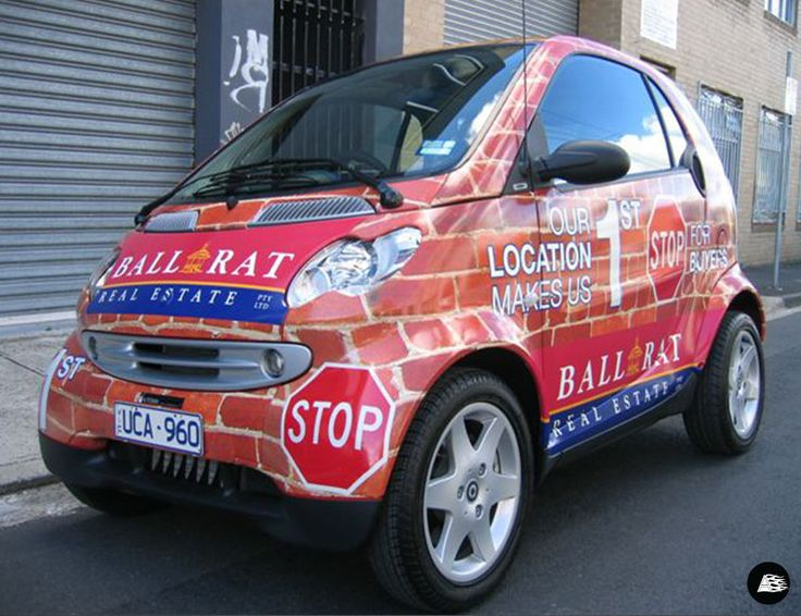 Real Estate Advertising, Themed Vehicle Wrap, Bricks and