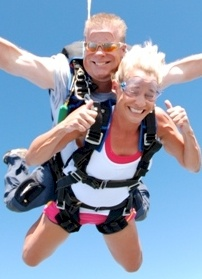 Sky diving. Soo not looking forward to this but it has to be done.