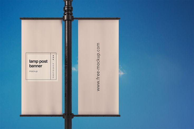 Lamp Post Banner Mockup Free Mockup In 2021 Banner Banner Advertising Free Banner