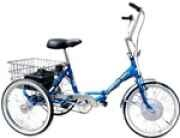 Worksman Lightning Electric Folding Port-O-Trike Adult Tricycle, $950.00, http://UrbanScooters.com