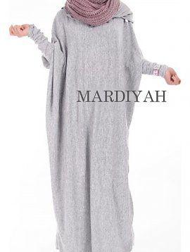 Lightgrey Winter Abaya