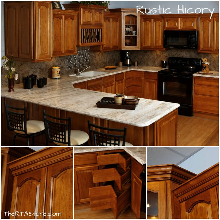 Rustic Hickory Kitchen #KitchenOfTheDay #Kitchen #Cabinets REPIN! Visit Our  Website To Find