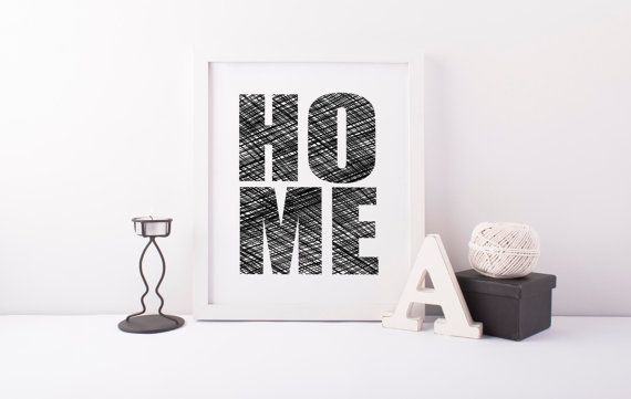 HOME Poster, Housewarming Gift, Digital Poster, Instant Download, Art Print, New Home, Wall Art, Modern Design, Typography Art, Home Decor