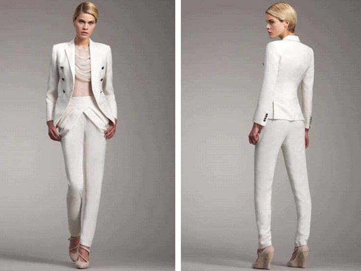 1000  images about Wedding pants suit on Pinterest | All white
