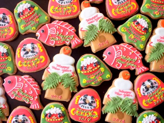 japanese new year design cookie♡