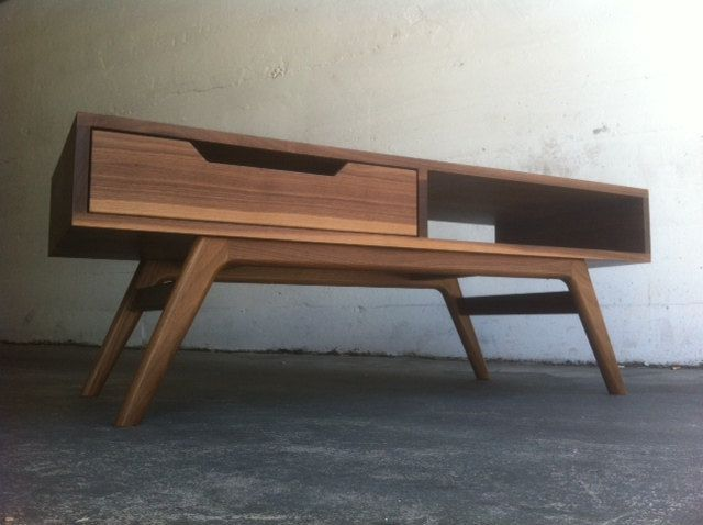 mid century danish modern inspired coffee table via etsy