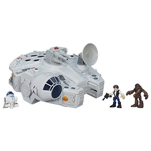 Adventure awaits in a galaxy far far away with the Galactic Heroes of Star Wars! Young Jedi can have big fun pretending to battle the Empire with the help of the Millennium Falcons crew Han Solo C...