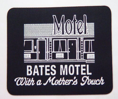 Bates Motel Mouse Pad 9 x 8 inches. Bates Motel Mouse Pad. This is brand new, never used. It measures about 9 x 8 inches.