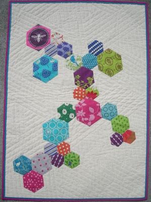 hexed upElven Gardens, Trail Minis, Hexie Trail, Fun Quilt, Mini Quilts, Hexie Quilt, Minis Quilt, Hexagons Quilt, Modern Quilt