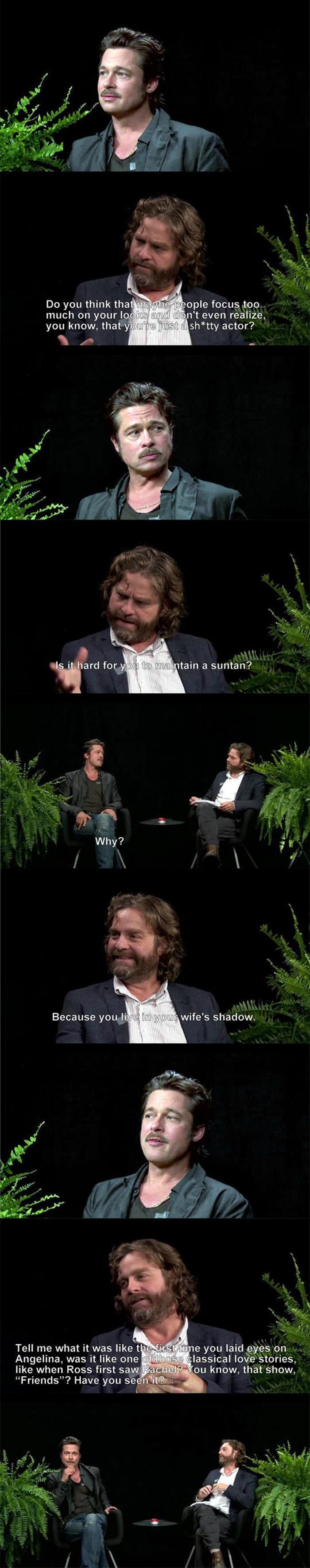 Brad Pitt On Between Two Ferns with Zach Galifianakis  20 Pics