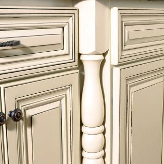 Cream cabinets with grey glaze cabinets pinterest for Cream kitchen cupboards
