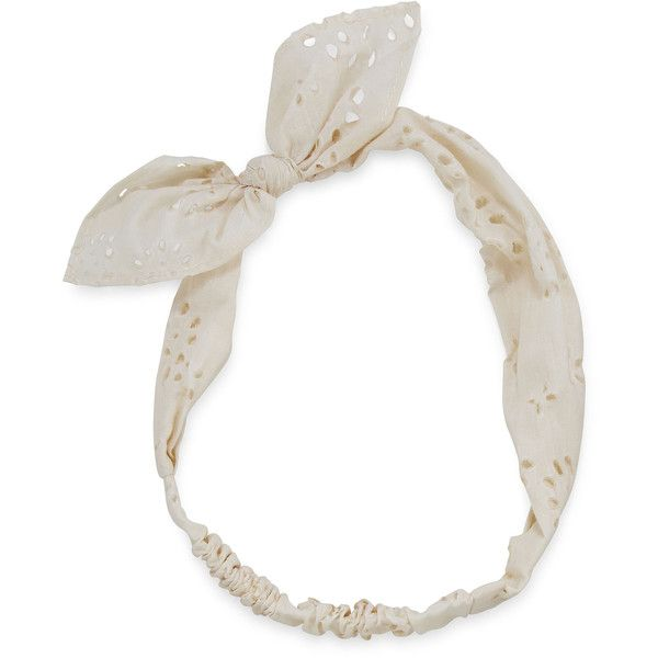 Carole White Bow Front Bandana Headband ($8.40) ❤ liked on Polyvore featuring accessories, hair accessories, hair bow accessories, cotton headbands, head wrap headband, white cotton bandanas and white handkerchief