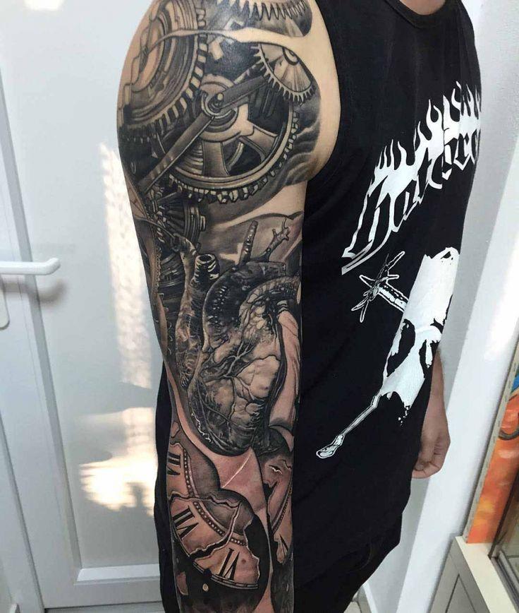Biomechanical Arm Sleeve Tattoo Designs 54 Mechanical Sleeve Tattoos
