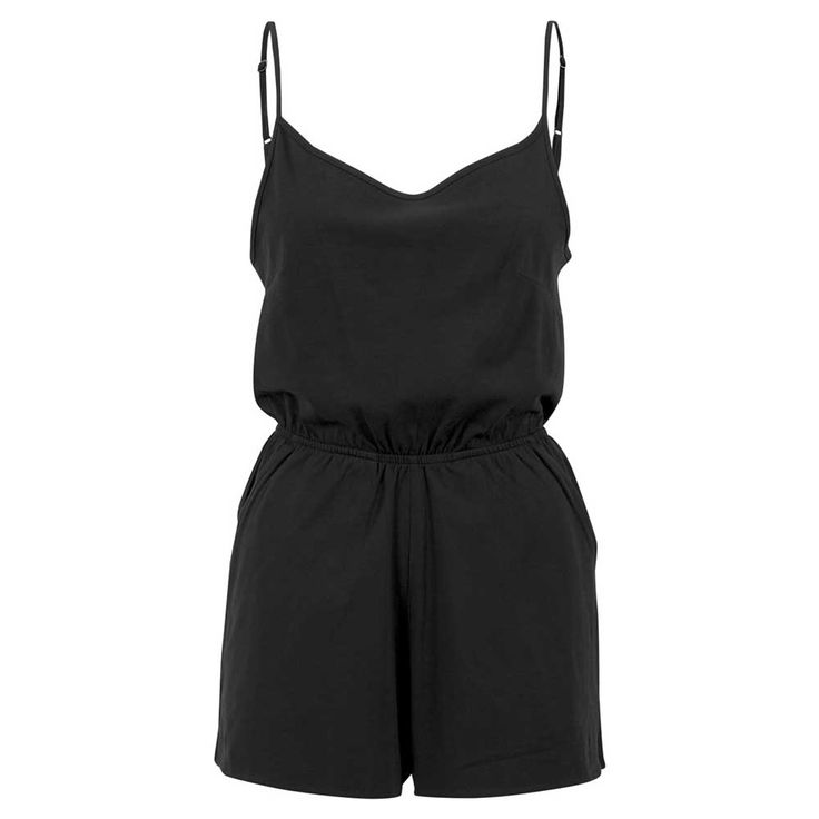 Urban Classics Korte spaghetti dames jumpsuit zwart | Attitude Holland