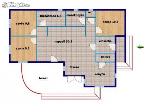 Ballószög legjobb utcájában 2007-es építésű 110 m2-es 4 szobás ház, 6. image