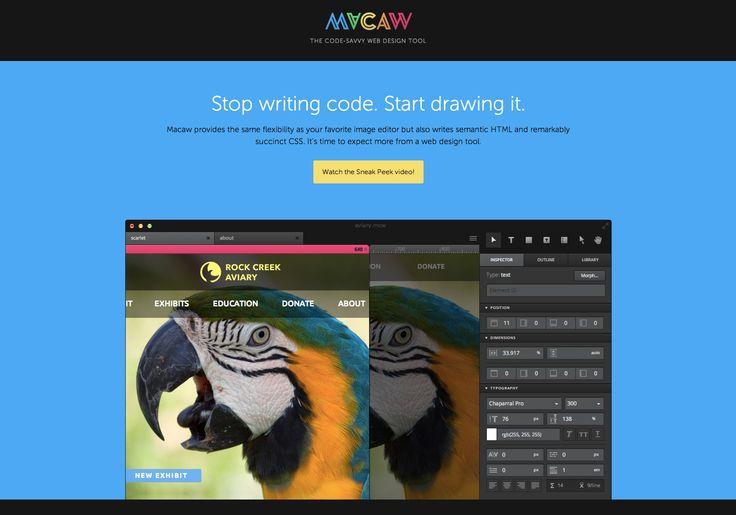 Macaw - The code-savvy web design tool