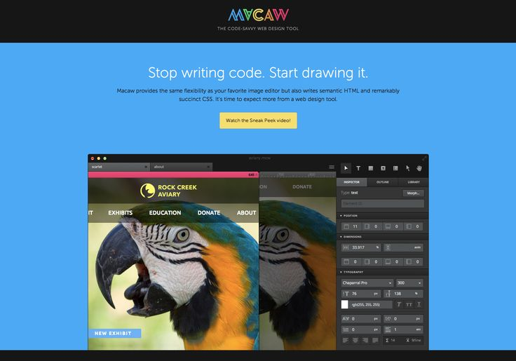 Macaw - The code-savvy web design tool