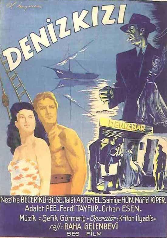 Türk Nostalji - Fotogaleri - Deniz Kızı (1944) filminin afişi