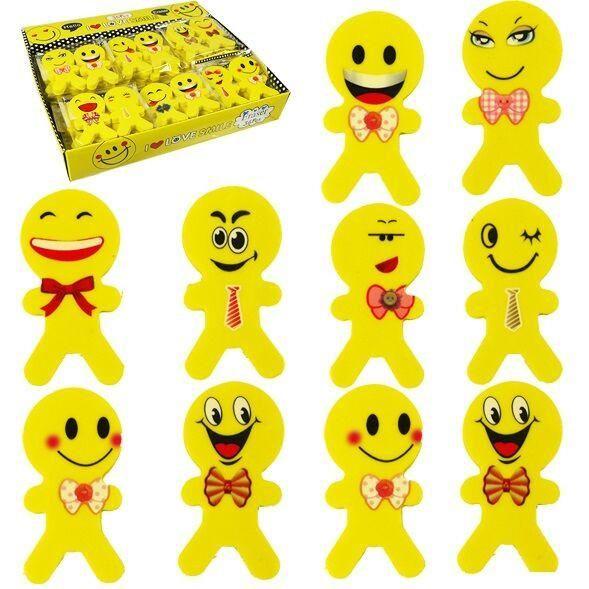 [12-Pack] Emoji Erasers