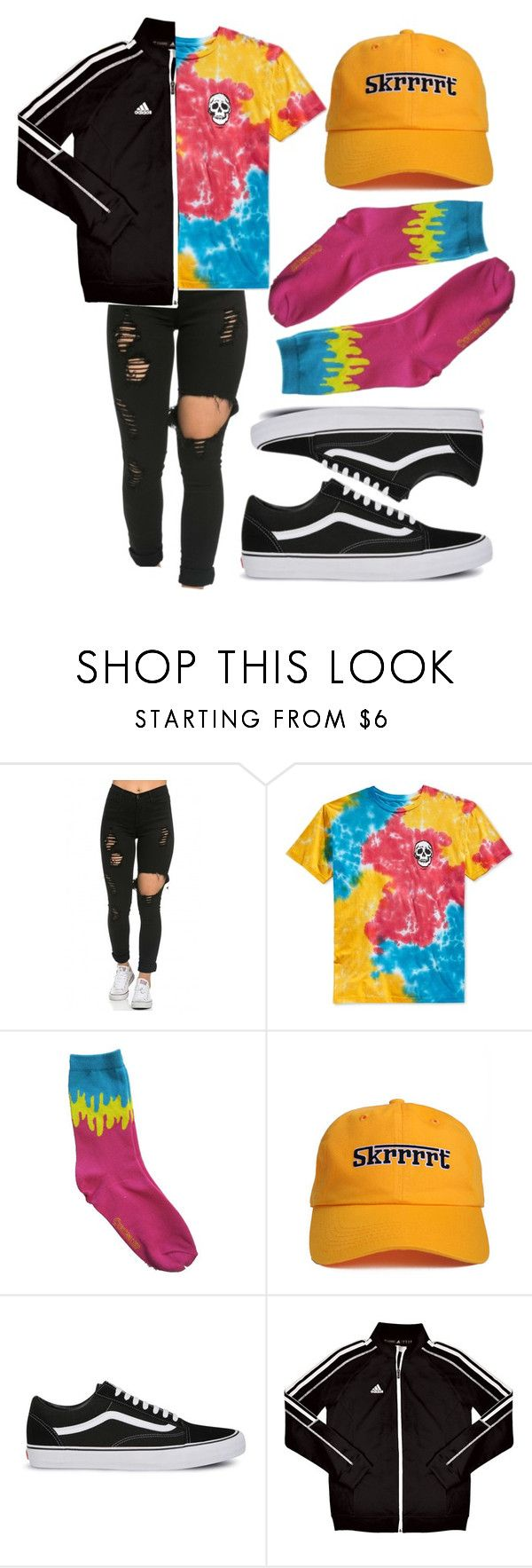 """$chool."" by l0vekennedyy ❤ liked on Polyvore featuring Neff, Vans and adidas"