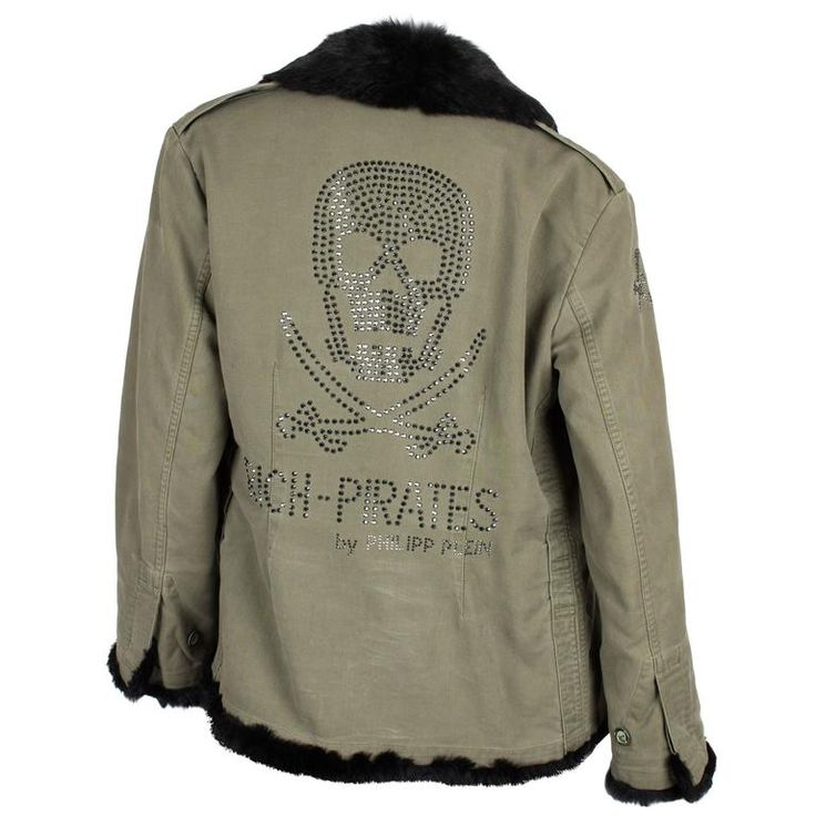 Philipp Plein Jacket - army green/black fur | From a collection of rare vintage coats and outerwear at https://www.1stdibs.com/fashion/clothing/coats-outerwear/