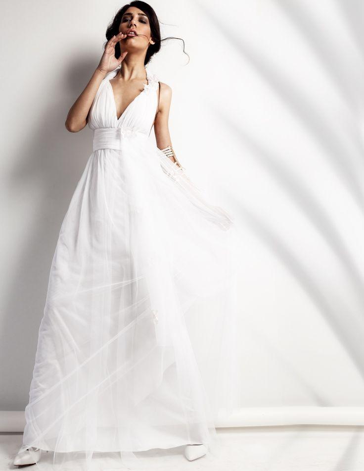 Girly Wedding| Ρομαντικό, αέρινο, κοριτσίστικο…από μεταξωτό τούλι και σουπλαριστή μουσελίνα το κάνει ξεχωριστό όσο και η εκδήλωσή σας- Αποφοίτηση, Γάμος σε ένα ξωκκλήσι ή νησί. Material: Silk Tulle, mousseline