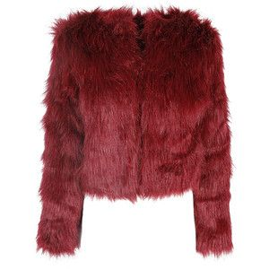Burgundy Fur Short Coat