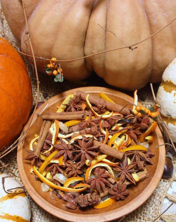 parfum d'ambiance d'automne : pot-pourri