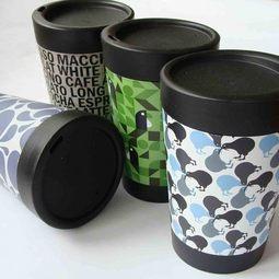 Eco reusable take-away coffee cups