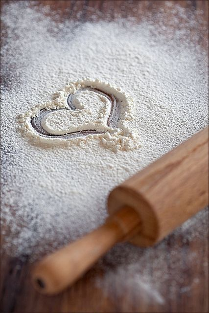 Heart in Flour With Rolling Pin. Credit Yuliuah Ataeva.  https://www.gettyimages.com/