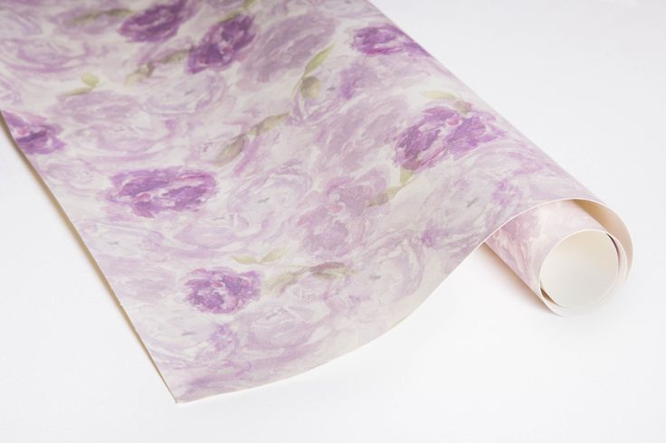 Purple Blossom Gift Wrap  100% recycled Hand-painted, watercolour florals Uncoated and matte sheets #giftwrap #wrappingpaper #craft #paper #watercolour #florals