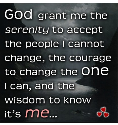 ... because there is only *one* life you have complete control over... and you alone are responsible for the quality of it... xo ♥Weird Twists, Real Talk, Interesting Twists, Wisdom, Mindfulness And Heart, Mindand Heart, Inspiration Quotes, Serenity Prayer
