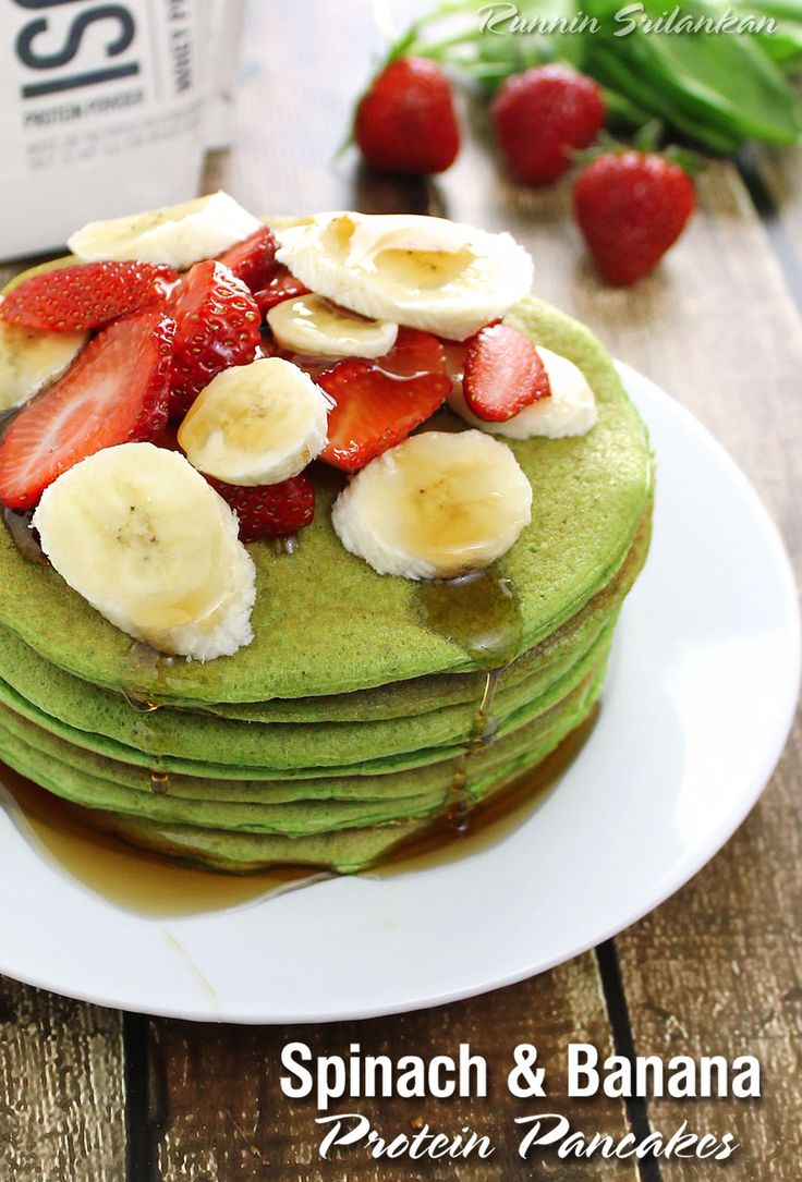 Spinach-Banana-Protein-Pancakes-With-Isopure-Protein-@RunninSrilankan