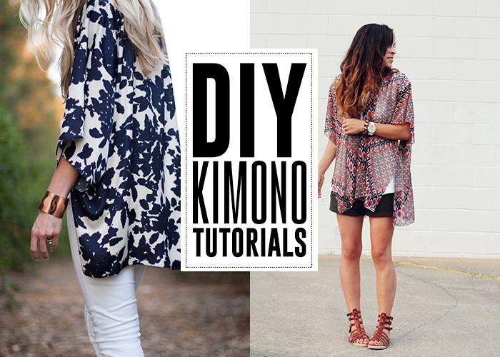 6 DIY Kimono tutorials