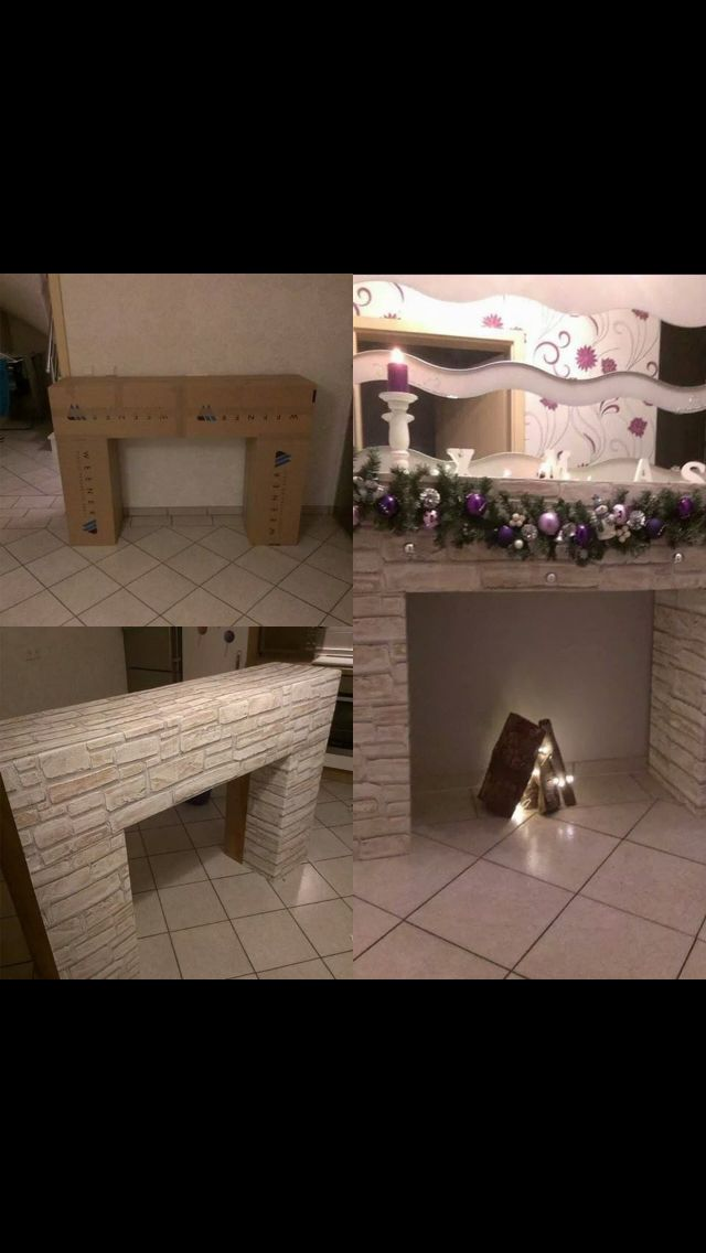 1000 ideas about cardboard fireplace on pinterest christmas fireplace christmas and diy. Black Bedroom Furniture Sets. Home Design Ideas