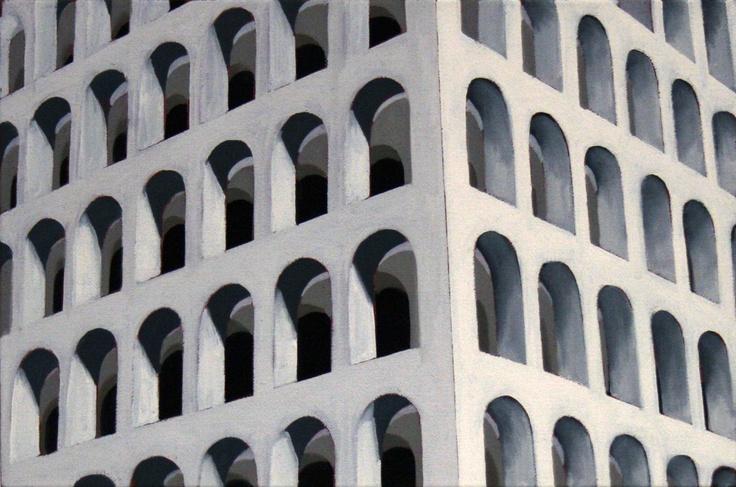 Marco Petrus - Roma 1 - 2011 - oil on canvas - Galleria Sant'Angelo